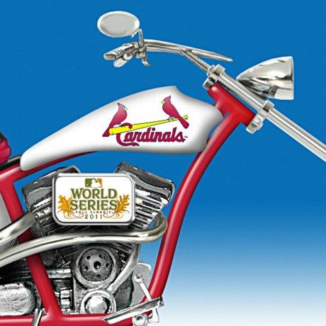 St. Louis Cardinals 2011 World Series Champions Chopper Motorcycle Figurine
