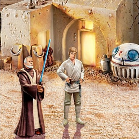 Star Wars Galactic Village Collection with FREE Luke Skywalker figurine