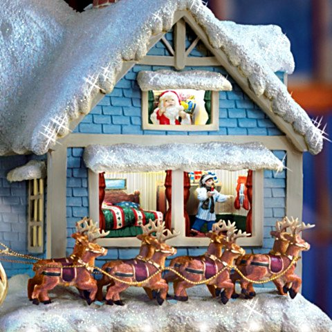 Thomas Kinkade 'Twas The Night Before Christmas' Collectible Story House - detail