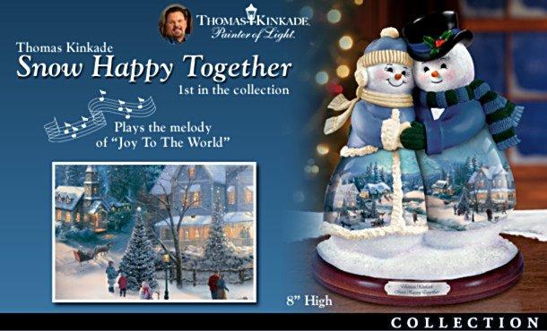 Thomas Kinkade Musical Snowman Figurine Collection: Snow Couples
