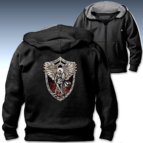 Triumph Of St. Michael The Archangel Men's Hoodie