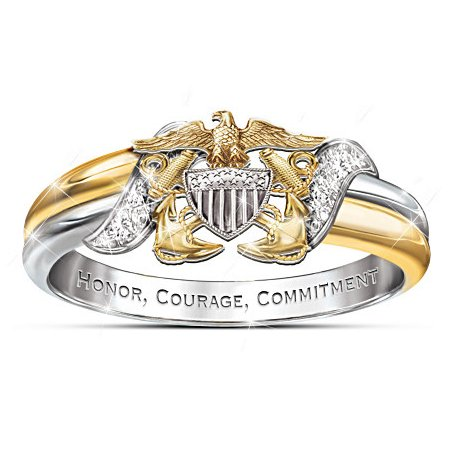 U.S. Navy Diamond Embrace Women's Ring