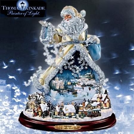Thomas Kinkade - Moving Santa
