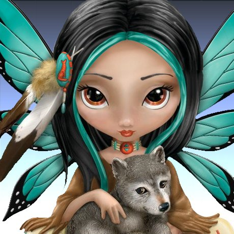 Moonheart, The Spirit Of Strength Wolf And Fairy Fantasy Art Figurine - detail