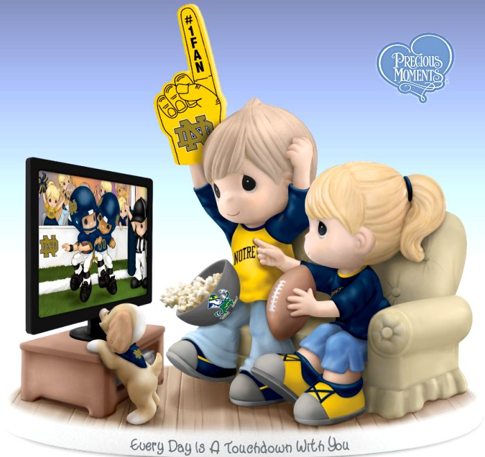 Precious Moments Every Day Is A Touchdown With You - Notre Dame Fighting Irish Figurine