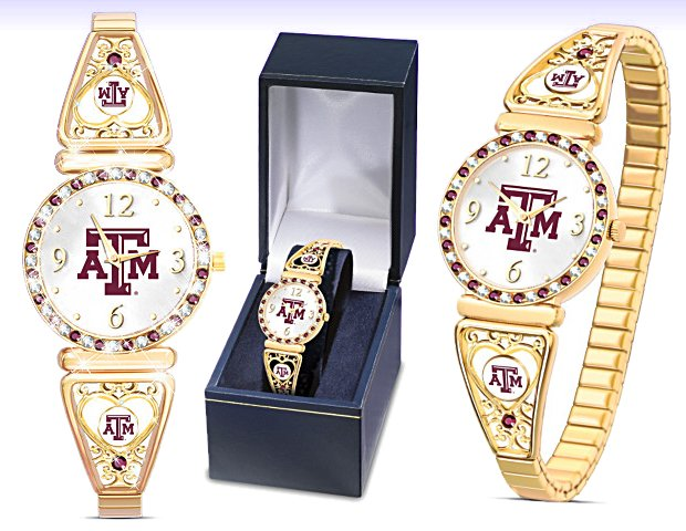 Texas A & M Aggies Football Fans Women's Watch