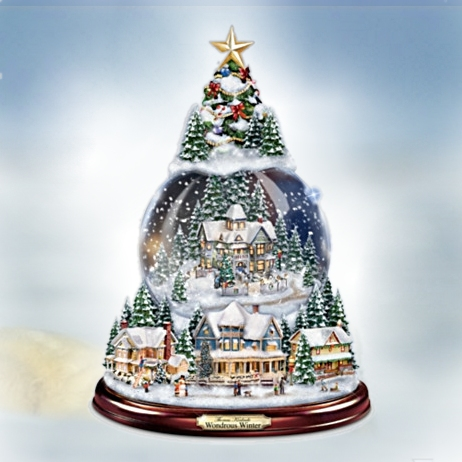 Thomas Kinkade Snowglobe Tree