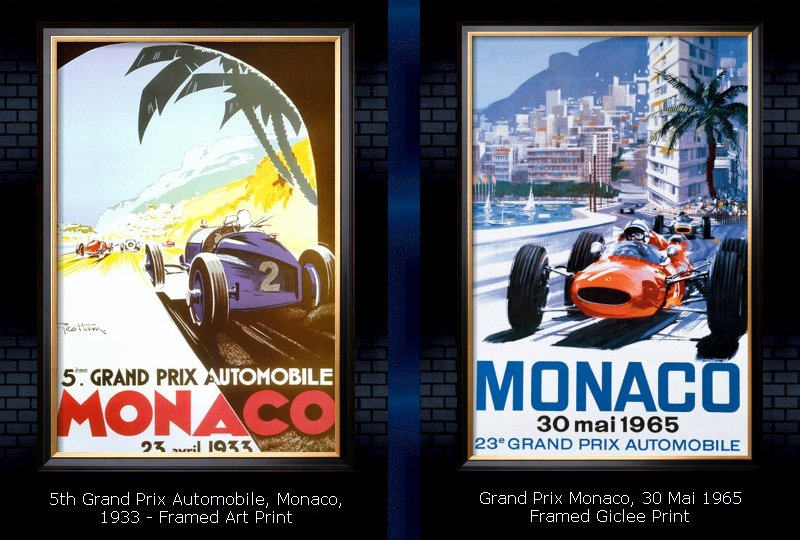 Grand Prix Monaco - Vintage Art Prints