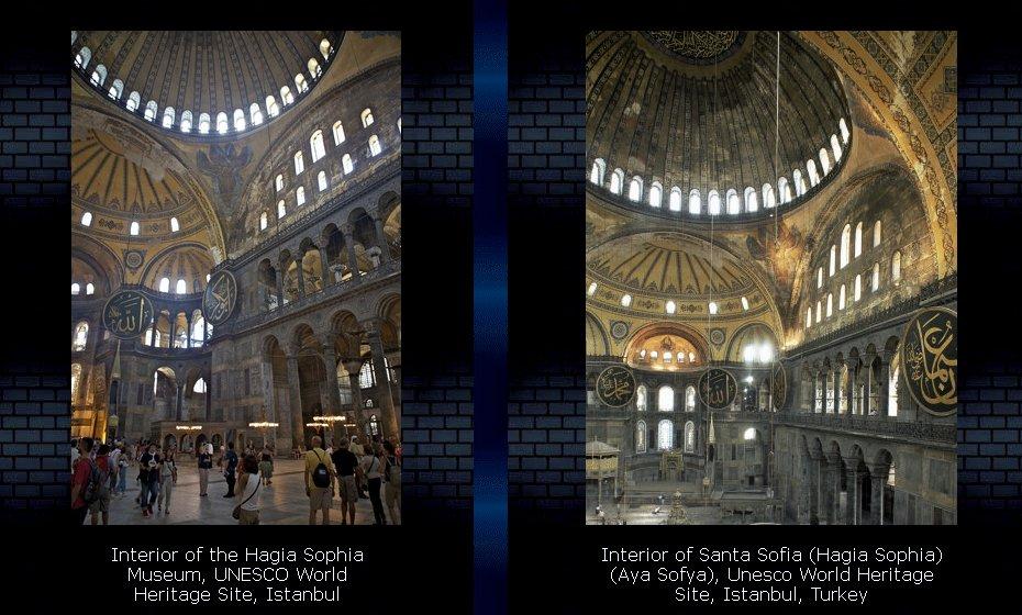 Interior of Hagia Sophia, Istanbul, Turkey, Art Print
