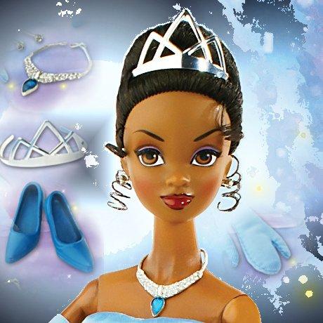 Princess Tiana In Blue Ballgown