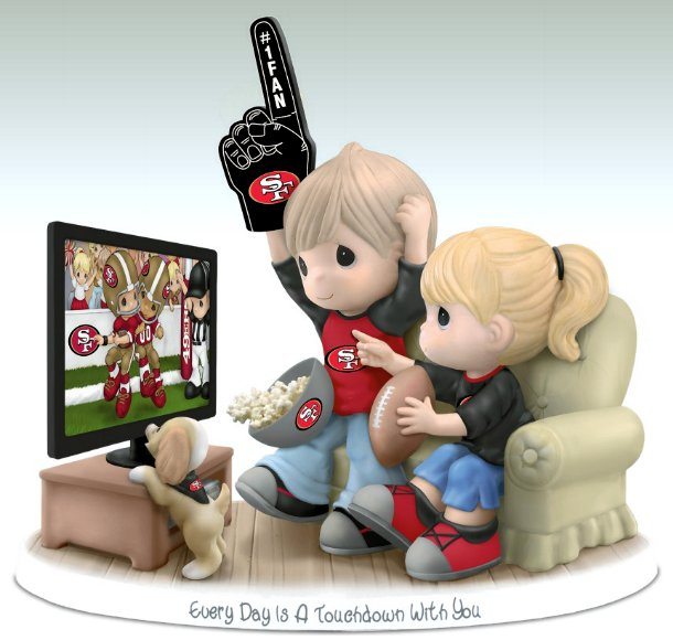Precious Moments Every Day Is A Touchdown With You 49ers Figurine