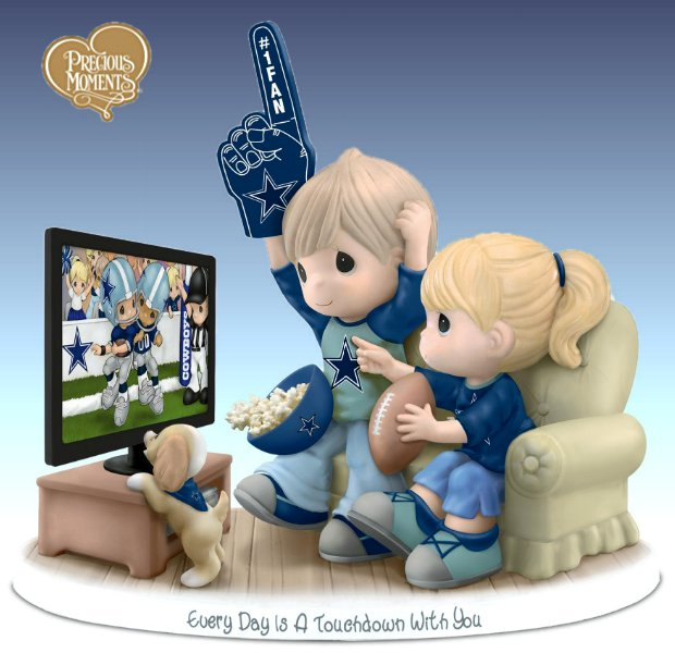 Precious Moments Every Day Is A Touchdown With You Cowboys Figurine