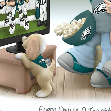 Precious Moments Every Day Is A Touchdown With You Eagles Figurine