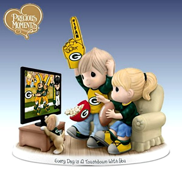 Precious Moments Every Day Is A Touchdown With You Packers Figurine