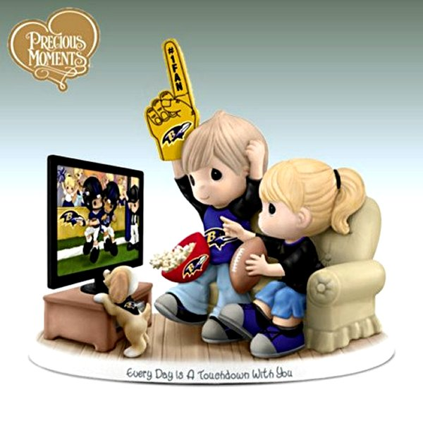 Precious Moments Every Day Is A Touchdown With You Ravens Figurine