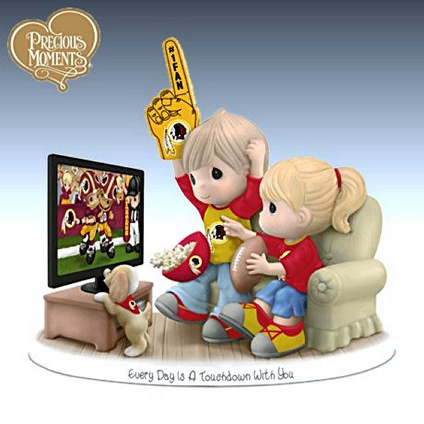 Precious Moments Every Day Is A Touchdown With You Redskins Figurine