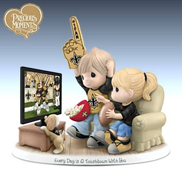 Precious Moments Every Day Is A Touchdown With You Saints Figurine