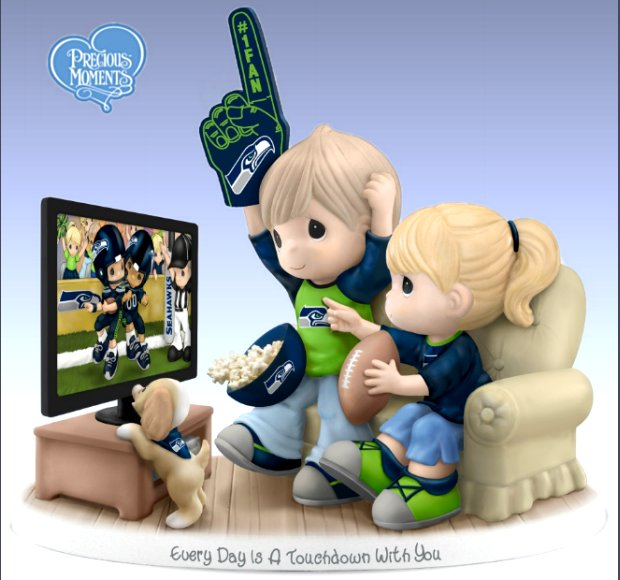 Precious Moments Every Day Is A Touchdown With You Seahawks Figurine