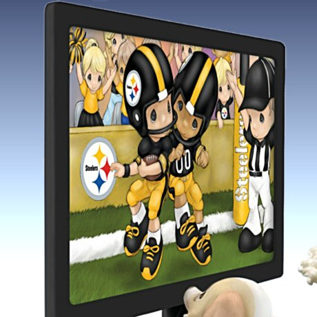Precious Moments Every Day Is A Touchdown With You Steelers Figurine