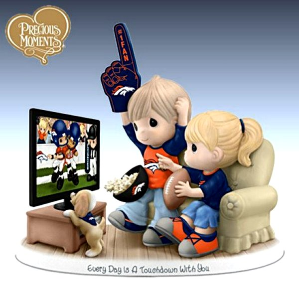 Precious Moments Every Day Is A Touchdown With You Broncos Figurine
