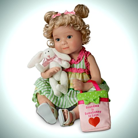 Granddaughter Child Doll: Grandma Is Somebunny To Love