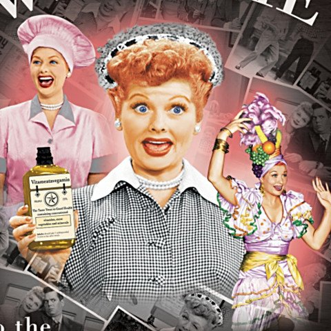 I LOVE LUCY Personalized Welcome Sign - detail