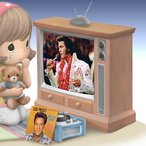 Precious Moments And Elvis Presley Love Me Tender, Love Me True Figurine - detail