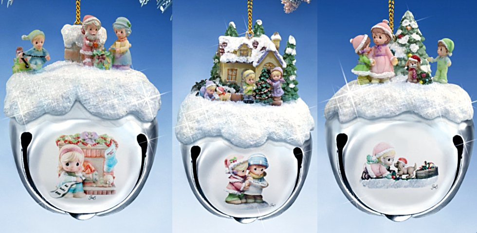 Precious Moments Christmas Sleigh Bells Ornaments: Set Of Three
