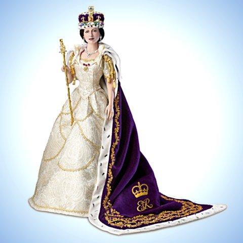Queen Elizabeth II Commemorative Coronation Portrait Doll