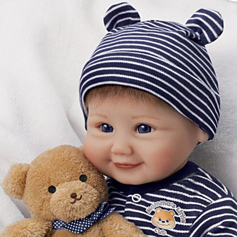 Sherry Miller Momma's Little Cub Baby Doll  - detail