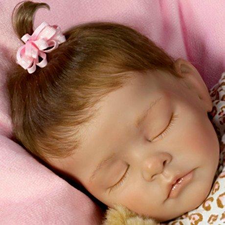 Sweet Dreams Ellie Lifelike Doll With Plush Teddy-Bear - detail