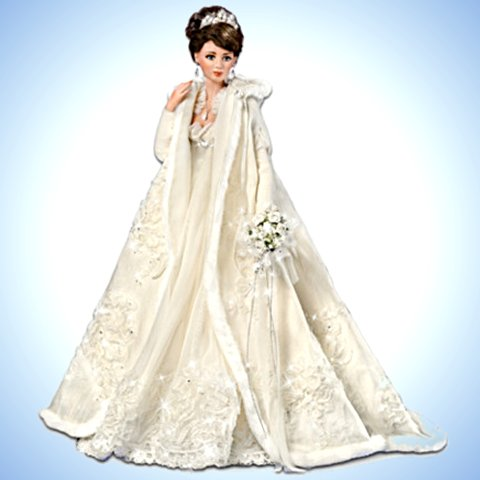Touch Of Elegance: 21 inch Porcelain Bride Doll