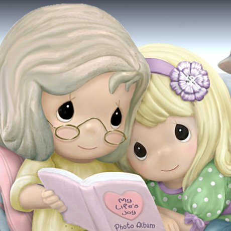 Precious Moments Figurine: With My Granddaughter Is The Nicest Place To Be - detail