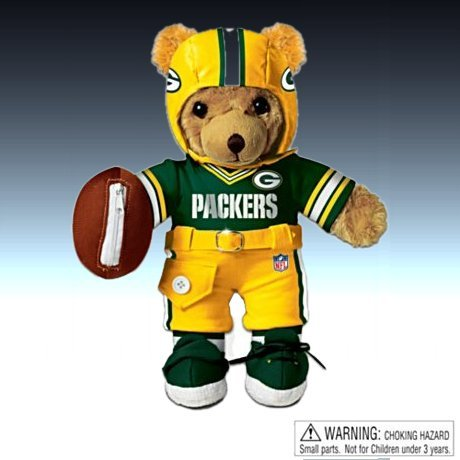 The Green Bay Packers Coaching Teddy Bear - Educational Huggable Plush Toy For Age 3 And Up