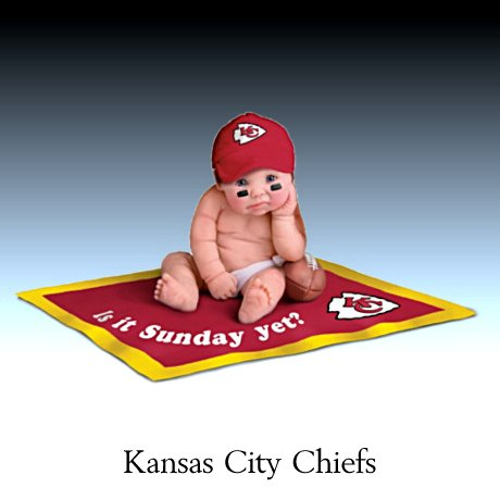 NFL Kansas City Chiefs #1 Fan Commemorative Baby Doll Collection