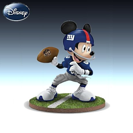 Disney NFL New York Giants Quarterback Hero Mickey Mouse Figurine