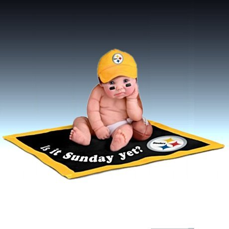 NFL Pittsburgh Steelers #1 Fan Lifelike Baby Doll Collection