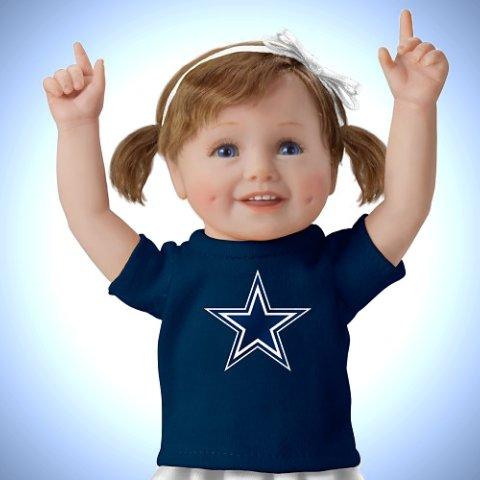 Cowboy Girls Have More Fun! Dallas Cowboys Child Doll - Detail