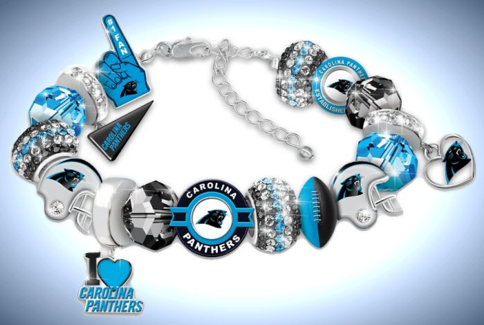 Fashionable Fan Carolina Panthers NFL Charm Bracelet