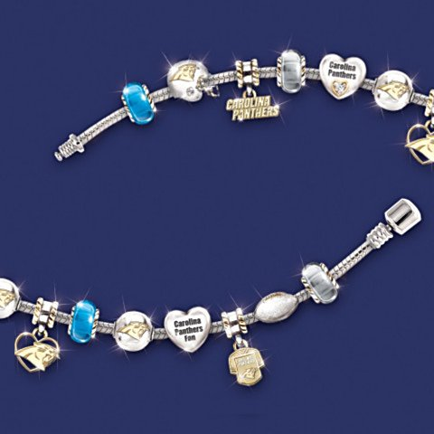 NFL Carolina Panthers Charm Bracelet