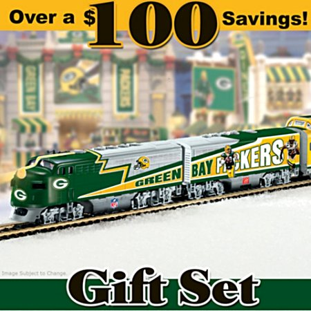 Green Bay Packers Express Train Gift Set