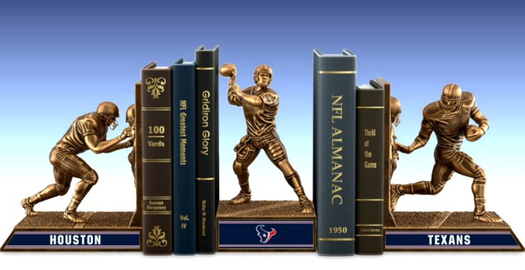 Limited Edition Houston Texans Cold-Cast Bronze Legacy Bookends Collection
