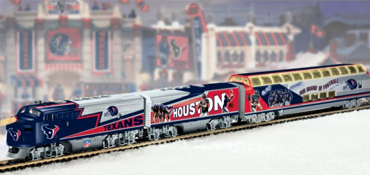 NFL Football Houston Texans Express Electric Train Collection