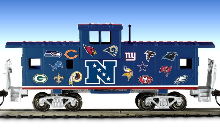 NFL Caboose: Train Accessory with All NFL Team Logos