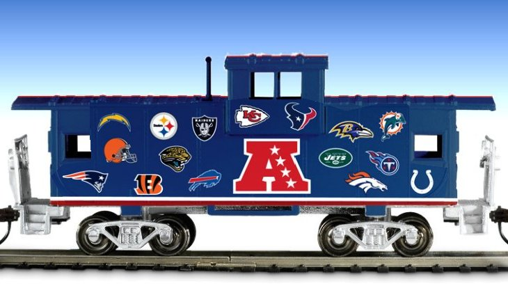 NFL Caboose: Train Accessory with All NFL Team Logos - reverse