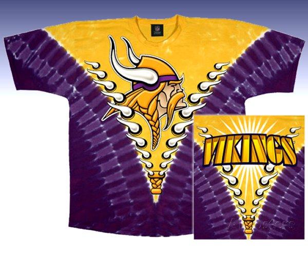 NFL Minnesota Vikings Logo Tie Dye T-shirt