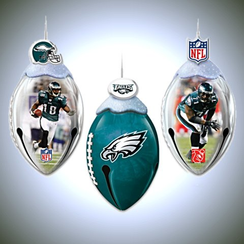 NFL Philadelphia Eagles FootBells Ornament Collection