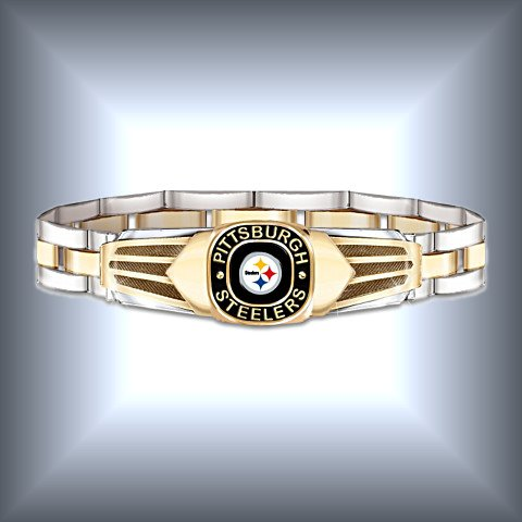 NFL Pittsburgh Steelers Men's Stainless Steel Bracelet!