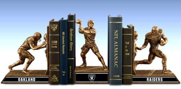 Bookends: Limited Edition Oakland Raiders Cold-Cast Bronze Legacy Bookends Collection