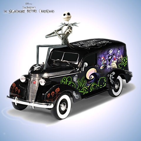 A Nightmare Before Christmas Spooktacular Ride Hearse Sculpture